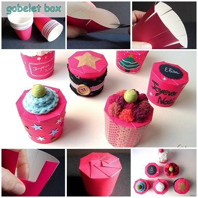 How To Make A Goblet Gift Box With Paper Cup