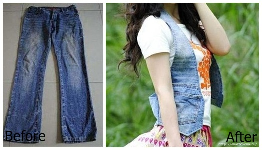How to Modify Your Old Jeans in to a Waistcoat