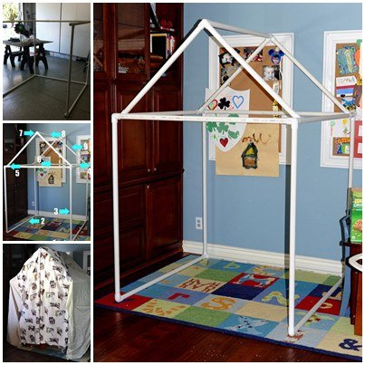 How to Use PVC Pipe Build A Playhouse or Fort