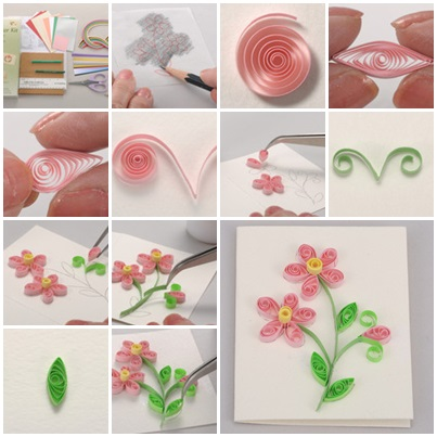 Diy beautiful quilling card for Easy quilling designs step by step