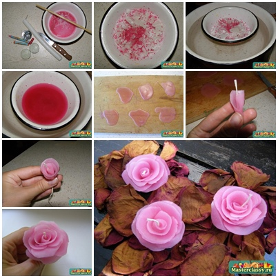 How to DIY Handmade Rose Candle