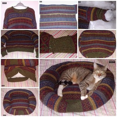 How to Recycle a Sweater into a Pet Bed