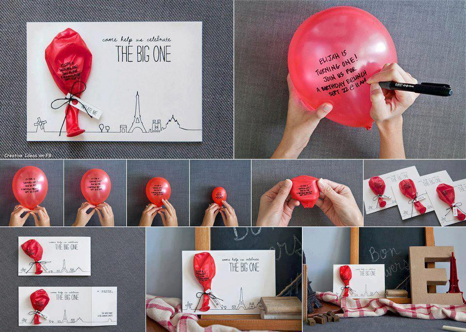DIY Make a Balloon Invitation Card