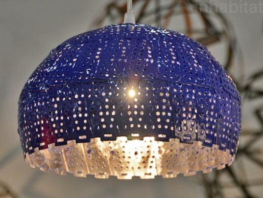 Colorful New Lamps Made From Repurposed Colanders 2