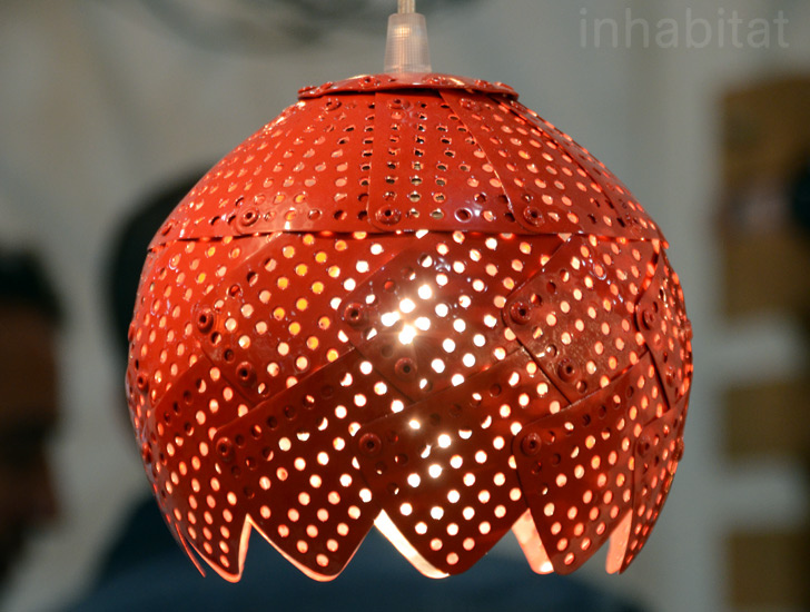 Colorful New Lamps Made From Repurposed Colanders 3