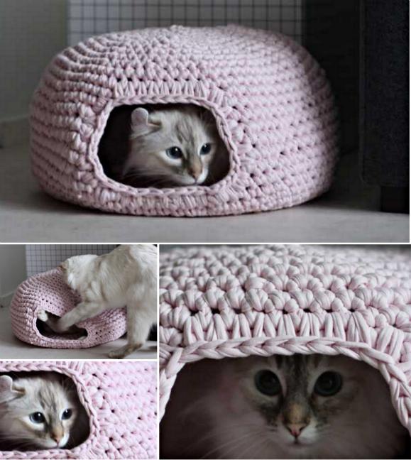Free Crochet Cat Cave Pattern - Hot Girls Wallpaper
