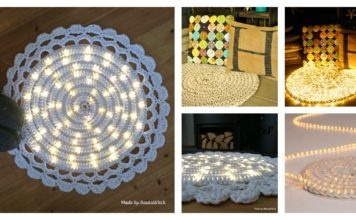 DIY Easy Crochet Lights Rug Project to Warm Up Your Home