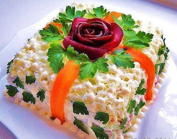 Great Salad Presentation for a Garden Party