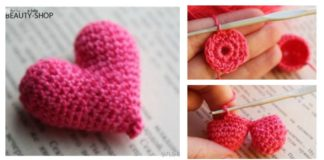 How to Crochet Beautiful Hearts