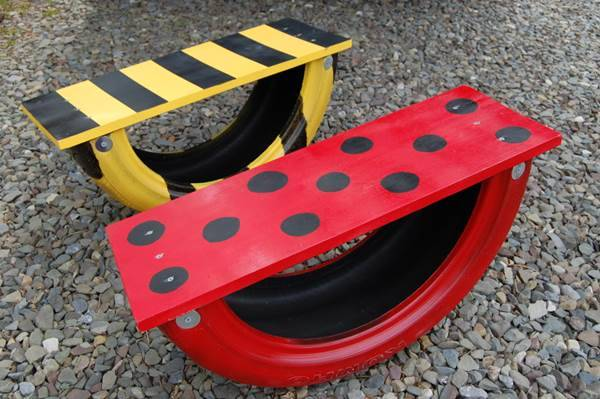 How to Repurpose A Tire Into A See Saw (Teeter Totter) 1