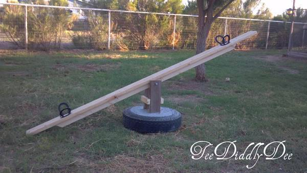 How to Repurpose A Tire Into A See Saw (Teeter Totter) 3
