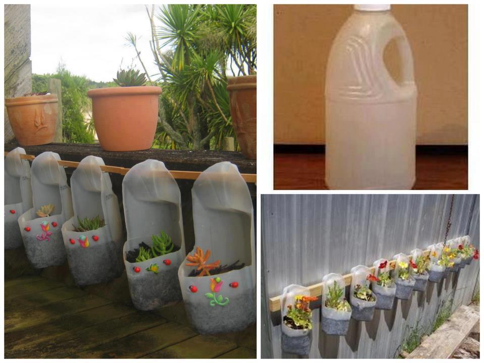 Diy make plastic bottle planters for Diy plastic