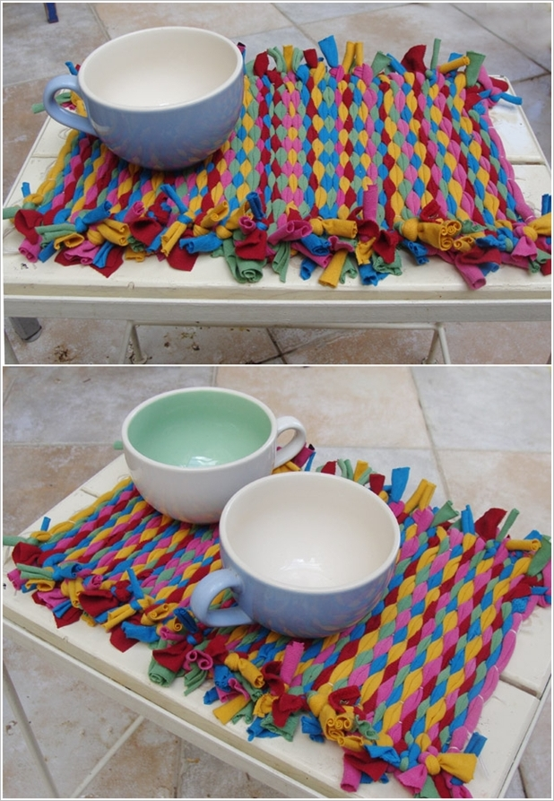 How to Weave Rug with Cardboard and Fork