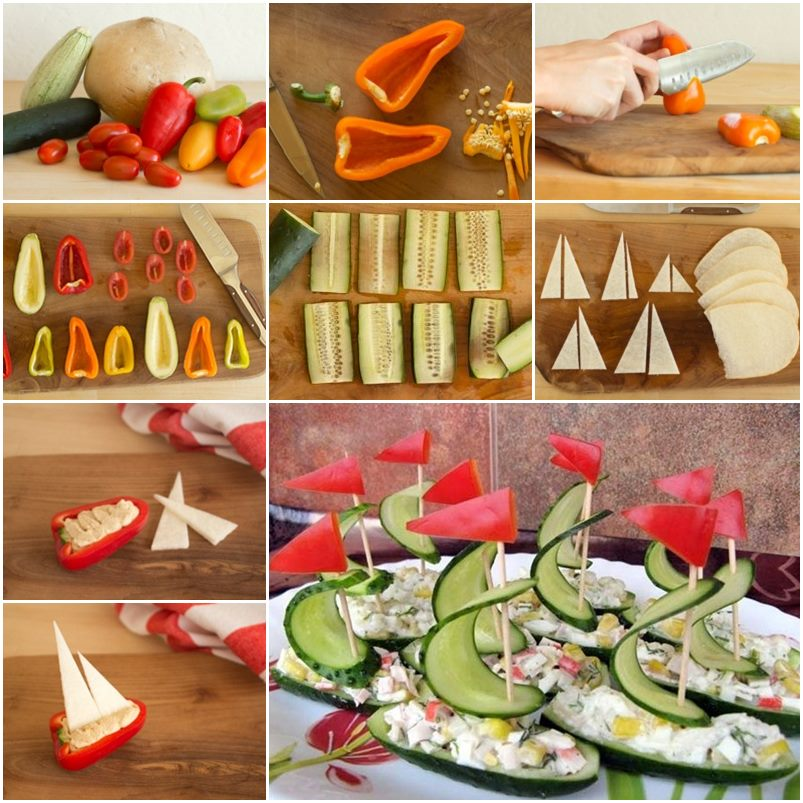 Diy Amazing Salad Decoration Vegetables Boat F Cool Creativities