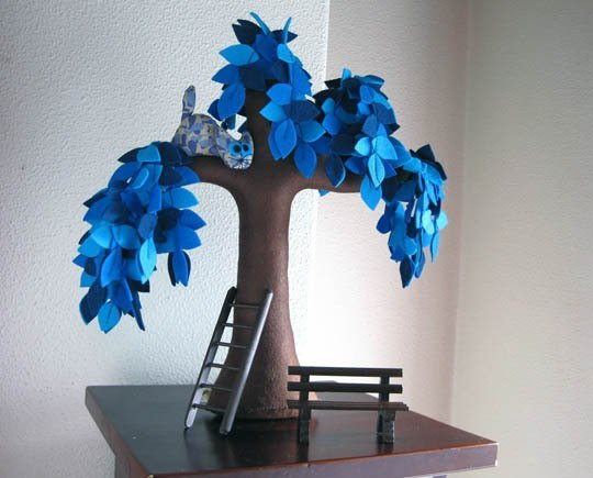 DIY Beautiful Felt Trees for Your Home