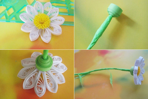 DIY Craft Beautiful Quilling Daisies Decoration