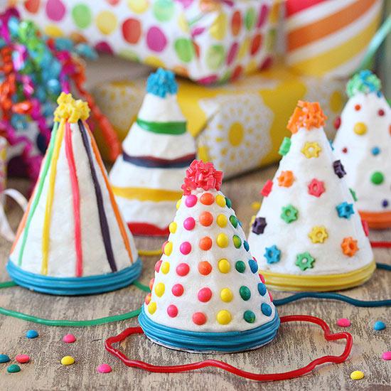 DIY Birthday Party Hat Cakes