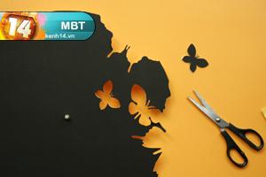 DIY Butterfly Wall Art Clock