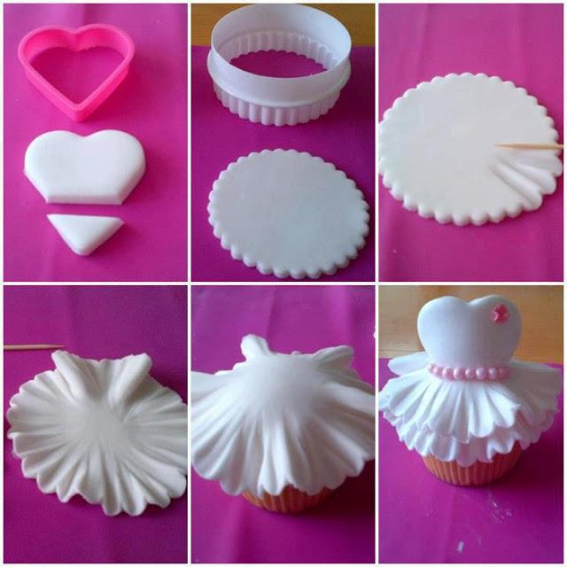 DIY Cute Ballerina Cupcake