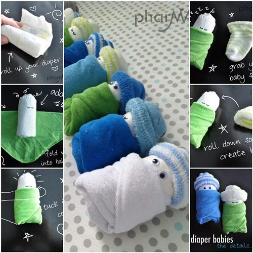 The Most Unique Pinterest Diy Home Decor And Gift Ideas: DIY Cute Diaper Babies For Baby Shower