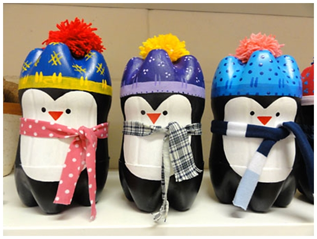 Cool creativity diy cute penguin out of plastic bottles for Things to make out of plastic bottles