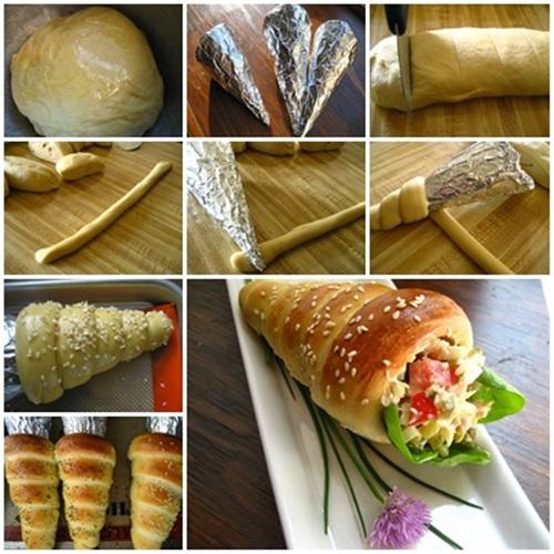 DIY Delicious Bread Cone