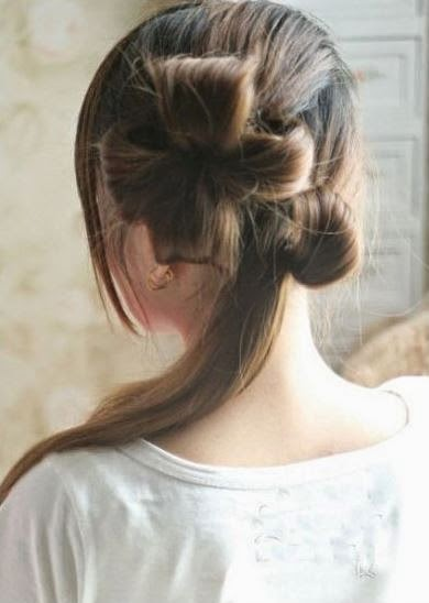Diy Double Ponytail Flower Shape Updo Hairstyle