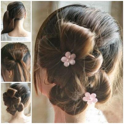 diy-double-ponytail-flower-shape-updo-hairstyle-i