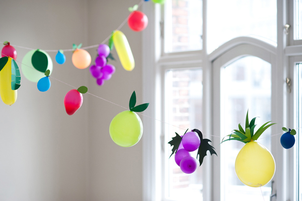 DIY Fruit Ballons for kid's Party