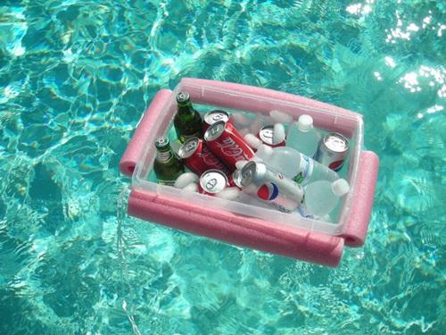 DIY Pool Noodle Beverage Boat