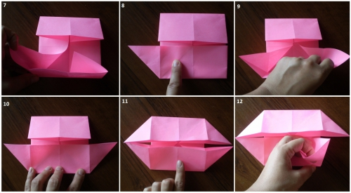 how to make an origami photo frame