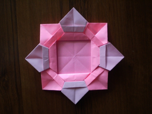 cool creativity � diy origami flower picture frame