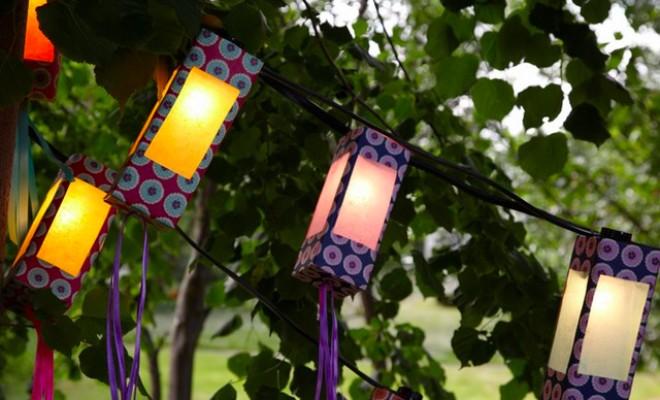 Сделать садовый фонарь своими руками
