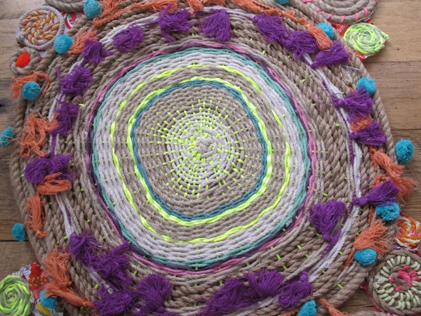 Diy Paper Plate Circle Weaving Rope Swirl Tapestries