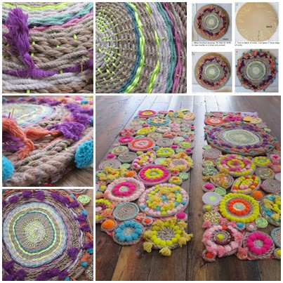 DIY Paper Plate Circle Weaving Rope Swirl Tapestries : wall hanging with paper plate - pezcame.com