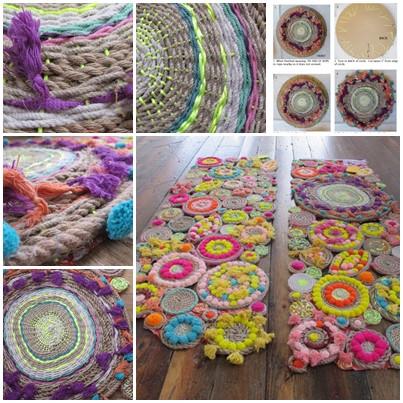 Diy Paper Plate Circle Weaving Rope Swirl Tapestries