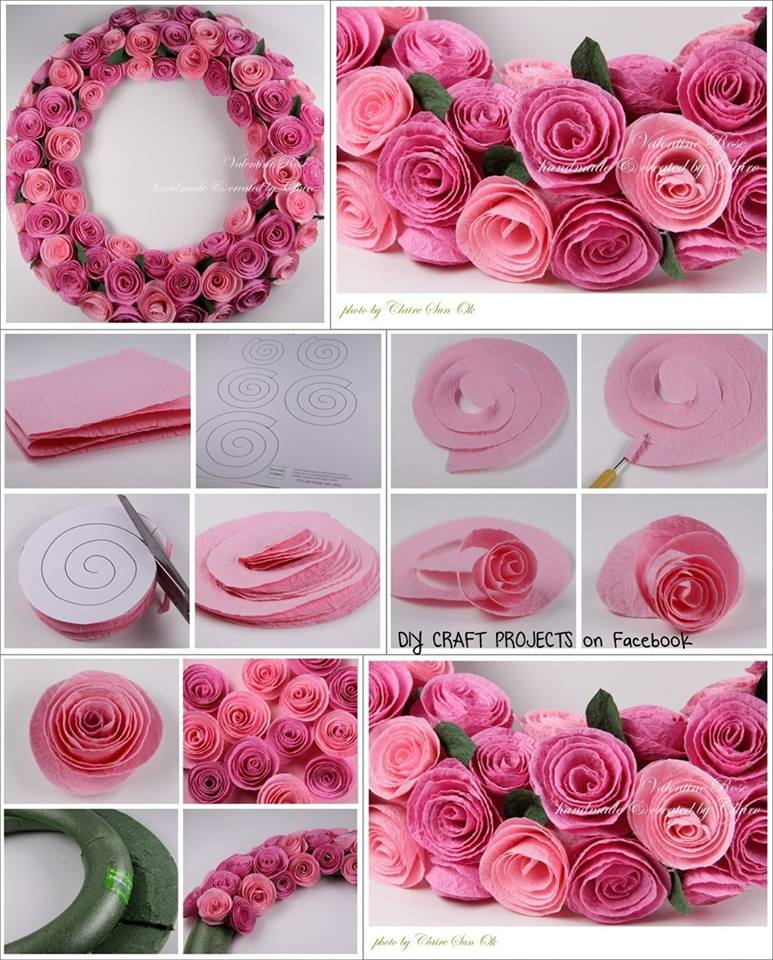 Diy paper spiral rose and decoration for Decoration or rose