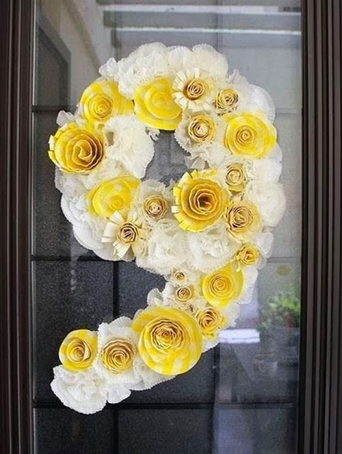 DIY Paper Spiral Rose and Decoration -number