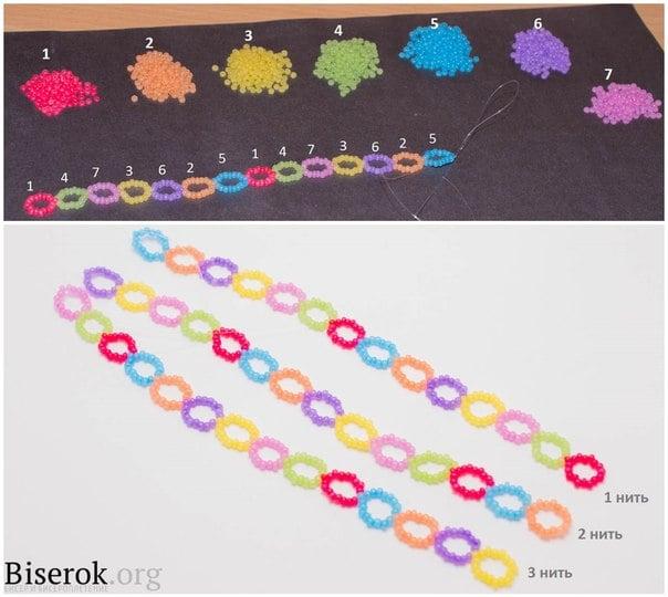 diy-rainbow-color-woven-beaded-bracelet02