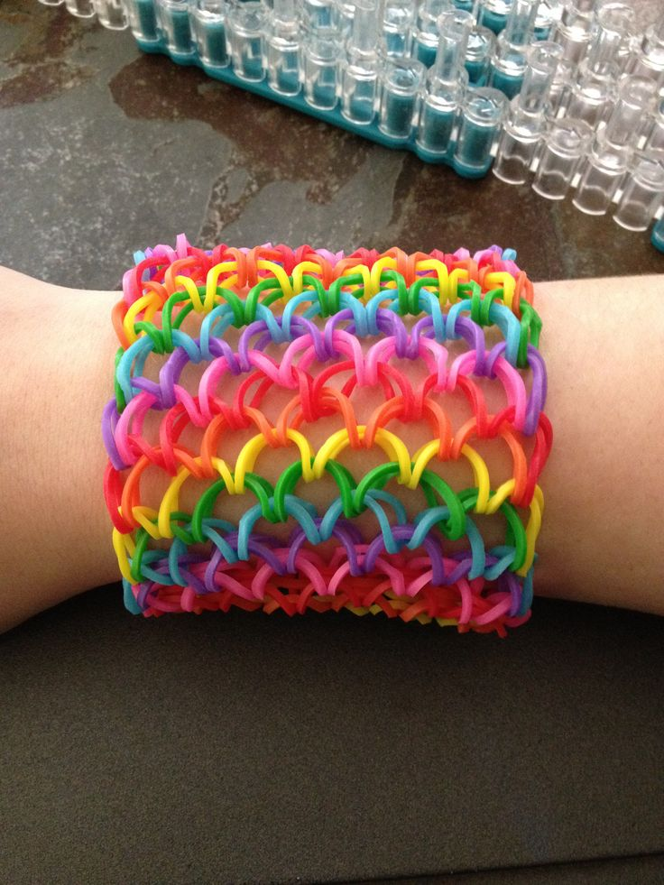 DIY Rainbow Loom Dragon Scale Cuff Tutorial