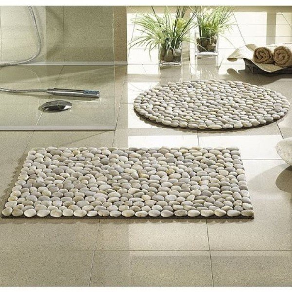 DIY River Stone Carpet