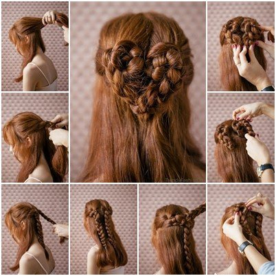 DIY Romantic Heart Braid Hairstyle