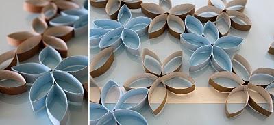 Diy Toilet Paper Roll 3d Flower Wall Art