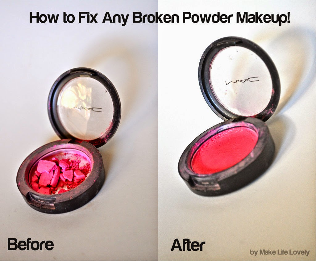 Using just one ingredient you probably already have at home, you can easily repair your broken powder makeup, and have it back to normal the next morning