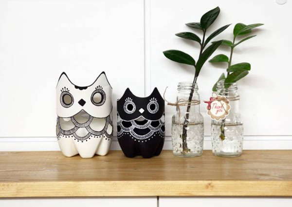 DIY Make an Owl with Plastic Bottles