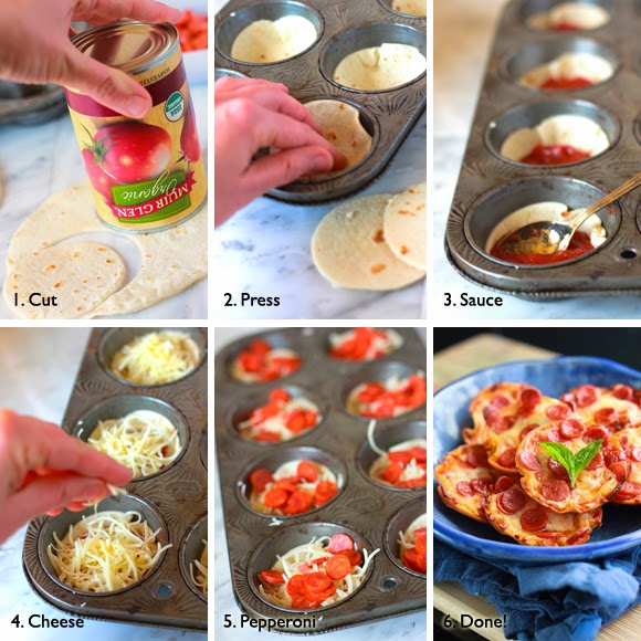 Quick to Make Mini Tortilla-Crust Pepperoni Pizzas