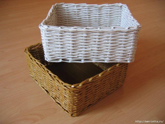Basket Weaving Gifts : Weave baskets with newspaper wicker you can try