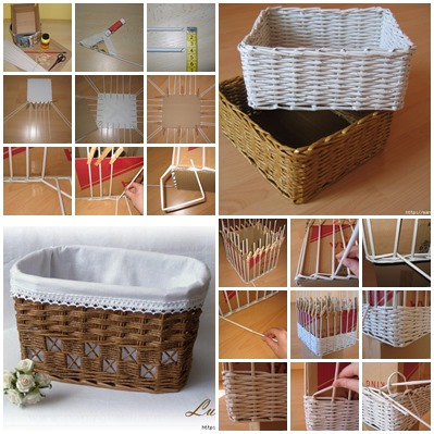 weave baskets with newspaper