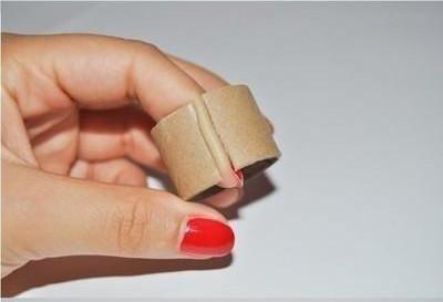DIY Cardboard Hair Cuff - Ponytail cuff diy