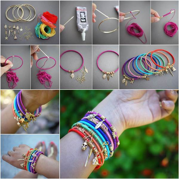 DIY Beautiful Wrap Bangles